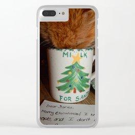 Milk? Clear iPhone Case