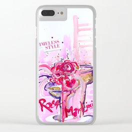 Paloma's Rose Martinis Clear iPhone Case