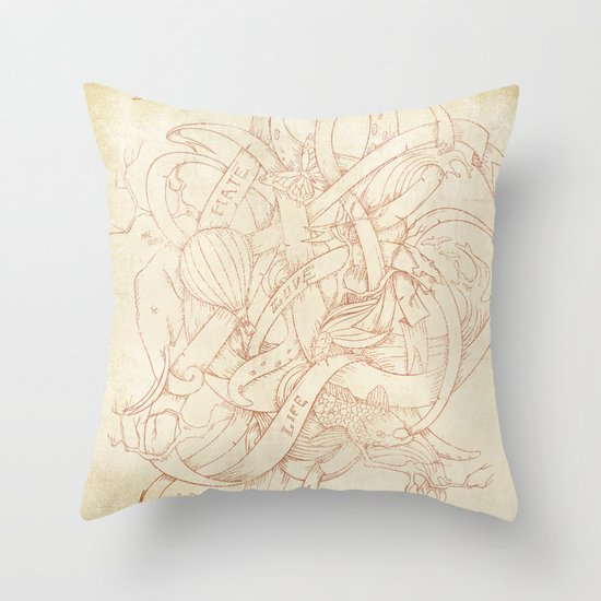 Abstract Nature | VACANCY zine | Throw Pillow
