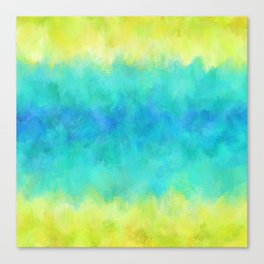 Sunflower and Ice Abstract Canvas Print