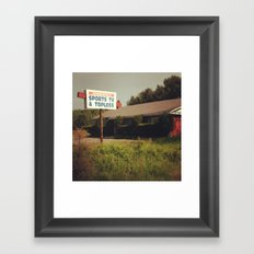 Oh, Johnnie. Framed Art Print