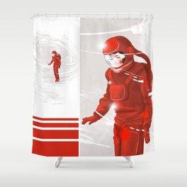 Hiroko in Storm // (astronaut girl) Shower Curtain
