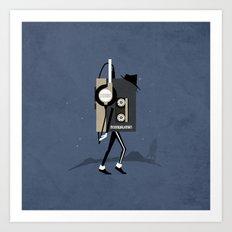 Moonwalkman Art Print