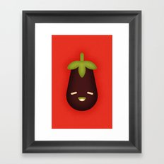 Eggplant Framed Art Print