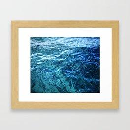 The Ocean's Surface Framed Art Print