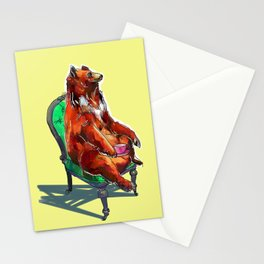 animals in chairs #20 The Bear at Tea Stationery Cards