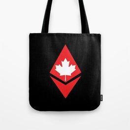 Canada flag ethereum Tote Bag