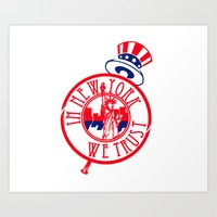 "yankees Art Prints featuring ""Subway Series"" Yankees by InNYweTrust"