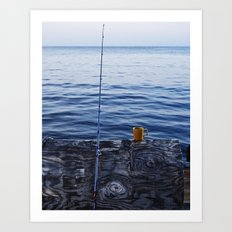 Sunrise Fishing  Art Print