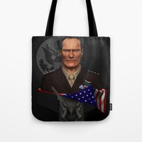 clint eastwood Tote Bags featuring Clint Eastwood by Aravindan