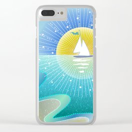 Sunny Sailing Clear iPhone Case
