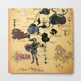 MAP OF TWILIGHT PRINCESS Metal Print