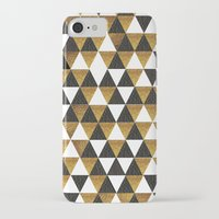 black and gold iPhone & iPod Cases featuring Black/Gold by T.Fischer