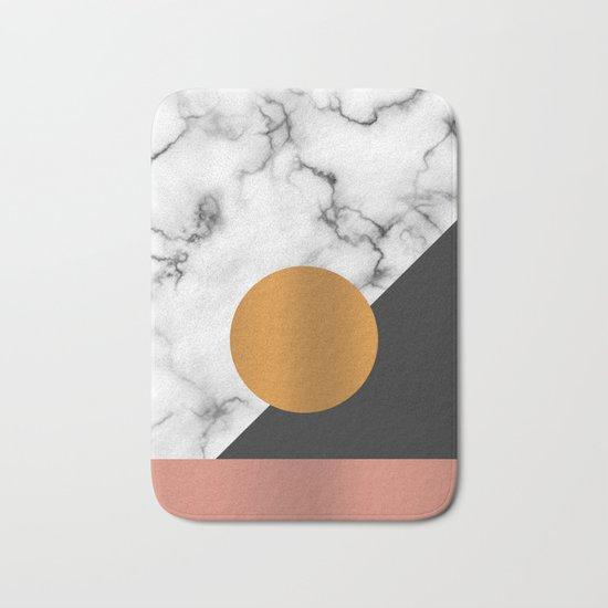 Marble & metals Bath Mat