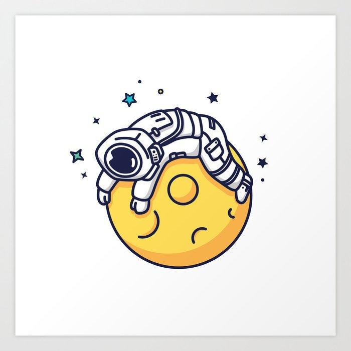 Lazy Astronaut Art Print