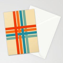 Retro Cross Stripes 02 Stationery Cards