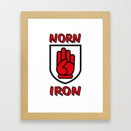 Norn Iron / Northern Ireland Red Hand of Ulster Framed Art Print