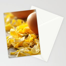 Fresh italian Pasta with egg Stationery Cards