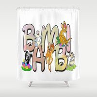 bambi Shower Curtains featuring Bambi by Mix-Master