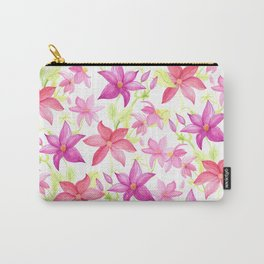 Clematis flower Carry-All Pouch