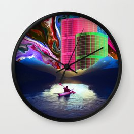 """Follow the Lights, They Lead to Something"" Wall Clock"