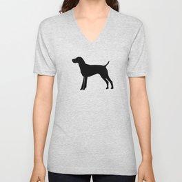 German Shorthair Pointer dog breed pet portraits dog silhouette unique dog breeds Unisex V-Neck