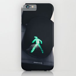 Green Traffic Light Print iPhone Case