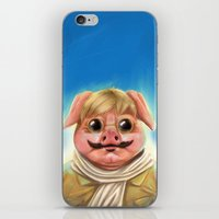 studio ghibli iPhone & iPod Skins featuring Studio Ghibli - Porco Rosso by Laurence Andrew Page Illustrator