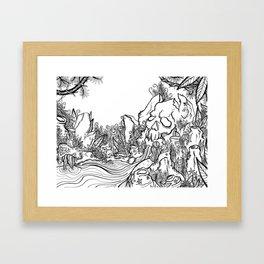 Skull Lagoon Framed Art Print