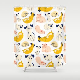 Chill Pups Shower Curtain