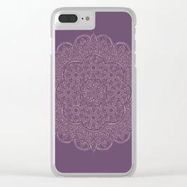 Gold/Rose Gold Mandala on Lavender background Clear iPhone Case