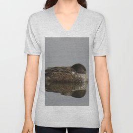 Beautiful duck at John Heinz Wildlife Refuge Philadelphia Unisex V-Neck