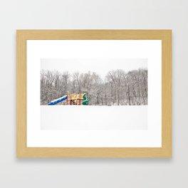 Snowy playground  Framed Art Print