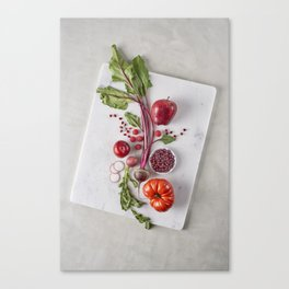 Red Organic Fruits and Vegetables Canvas Print