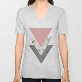 Blossoms Arrows Collage Unisex V-Neck