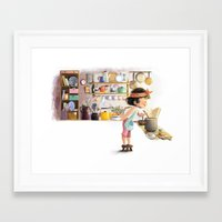 cooking Framed Art Prints featuring Cooking by Dung Ho
