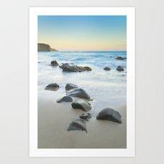 Magic beach. Volcanic sea. Art Print