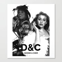clueless Canvas Prints featuring Clueless D&C by T-Hype (julianajace)