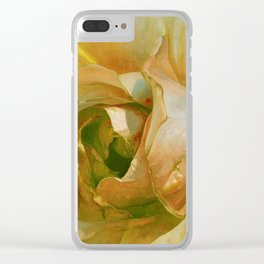 Floribunda Rose - Sun Bright Yellow Clear iPhone Case