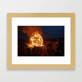 Easter fire - the inter is over (3) Framed Art Print