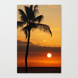 Lonely Palm Tree Canvas Print
