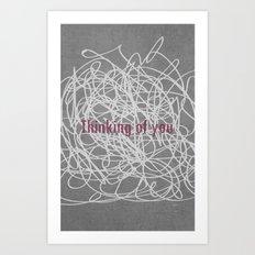 Concrete & Letters II Art Print