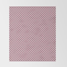 Rose Wine and White Polka Dots Throw Blanket