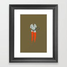 Dennis Tennis Framed Art Print