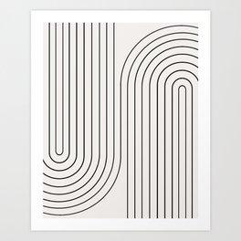 Minimal Line Curvature I Art Print