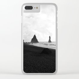 Black and White Vik Clear iPhone Case