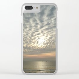 Cloudy sun Clear iPhone Case