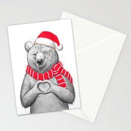 christmas bear #2 Stationery Cards