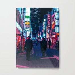 Take A Walk Under The Neon Metal Print