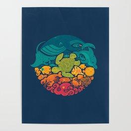 Aquatic Rainbow Poster